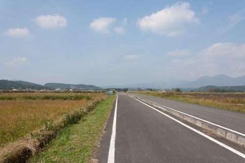 蒜山高原自転車道 1km直線