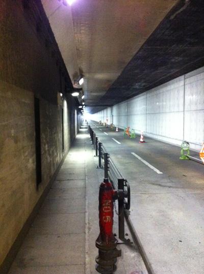 伊丹空港地下トンネル