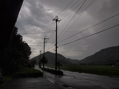 豪雨の終わり