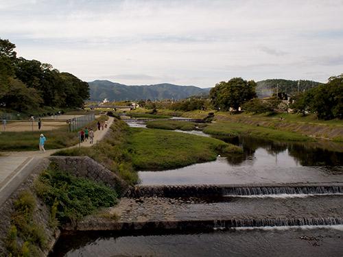 賀茂川河川敷