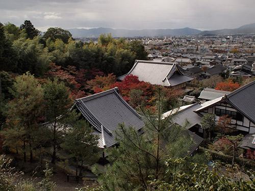 東照宮から圓光寺境内を見下ろす