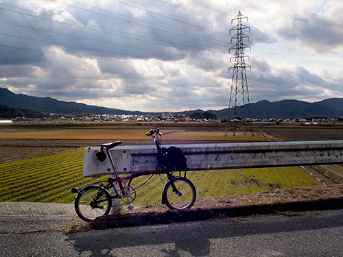 大戸川沿いのパノラマ