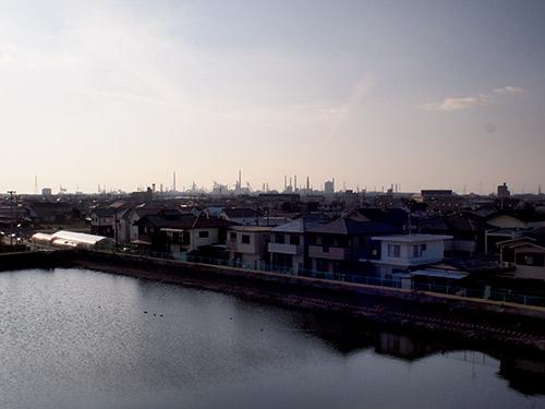 播磨臨海工業地帯が見える