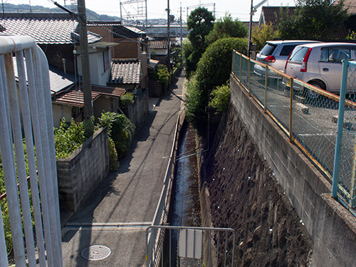 阪急大山崎駅からの道