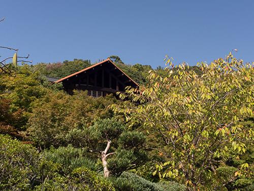 庭園から山荘テラス