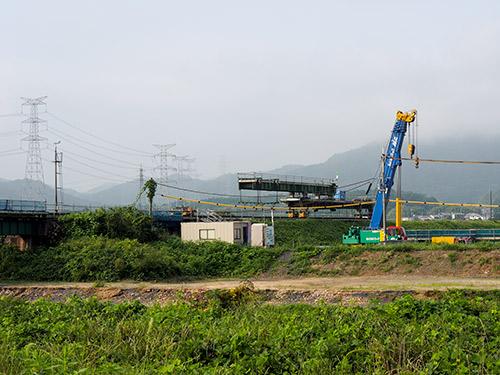 信楽高原鐵道 鉄橋復旧