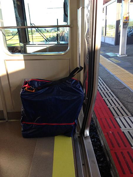 ブロンプトン輪行 JR福知山線