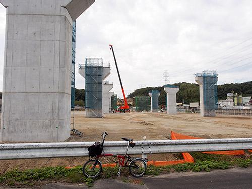 新名神工事 道場トンネル付近