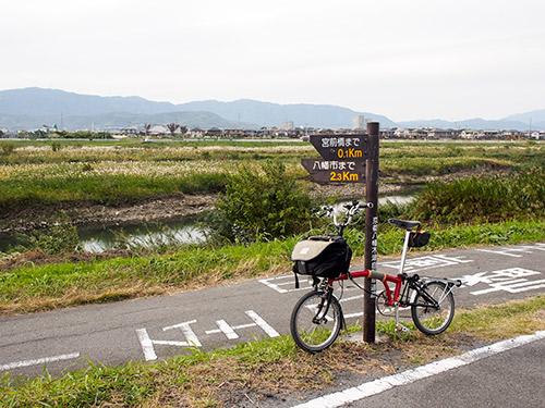 京都八幡木津自転車道 宮前橋付近