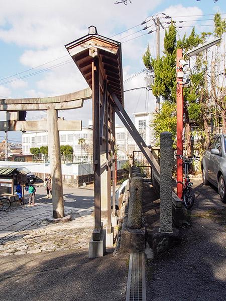 粟田神社 駐輪