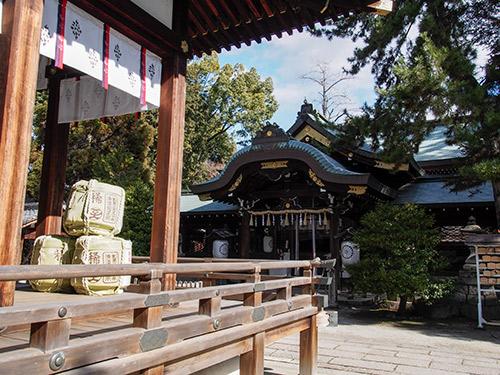 御靈神社 拝殿
