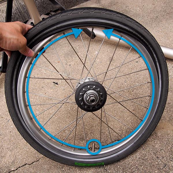 タイヤをはめる2