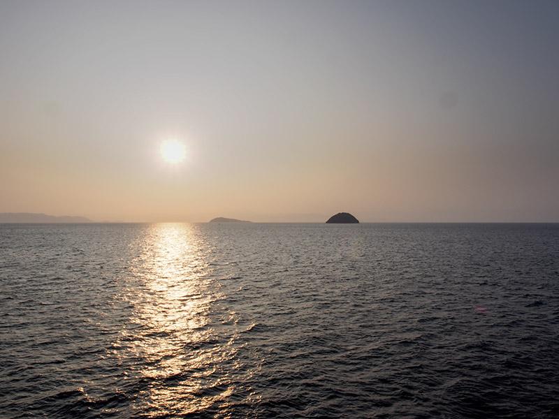 播磨灘 夜明け
