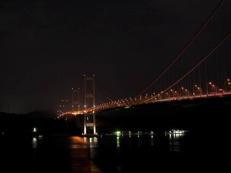 来島海峡大橋 夜景