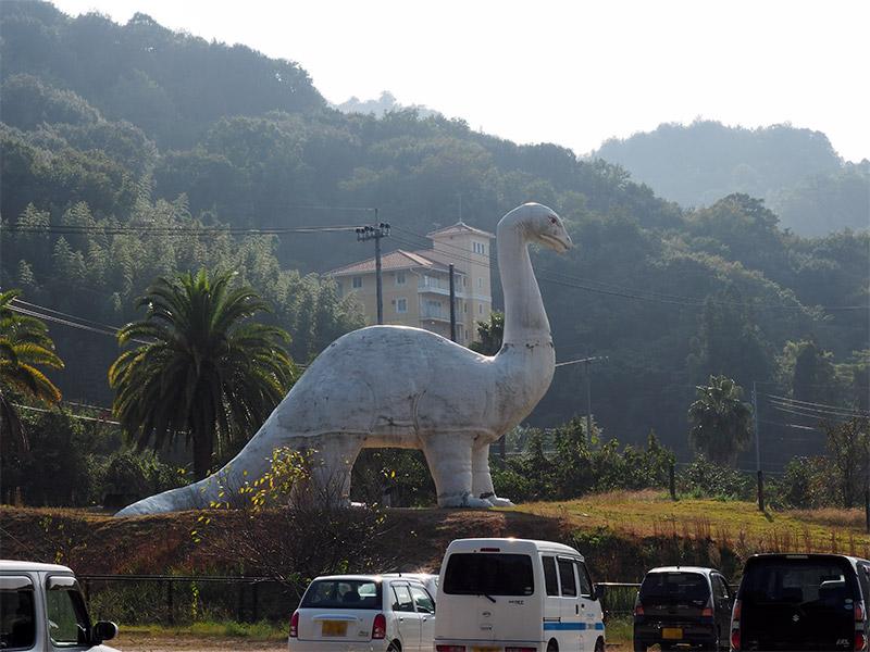因島 白い恐竜像