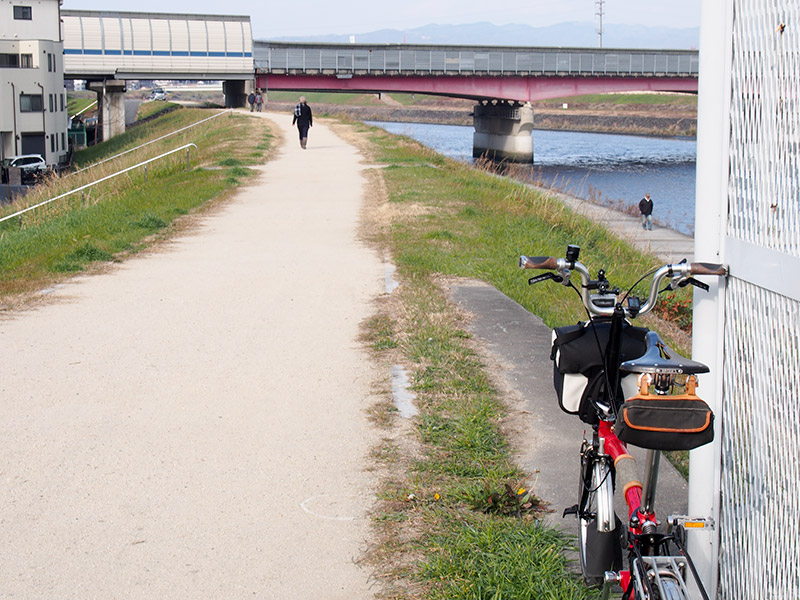 猪名川・藻川自転車道 未舗装路