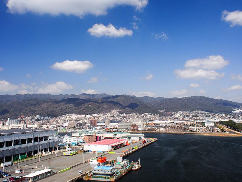 芦屋浜深江浜連絡橋からの眺め