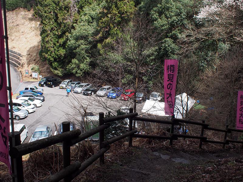 樽見の大桜 駐車場
