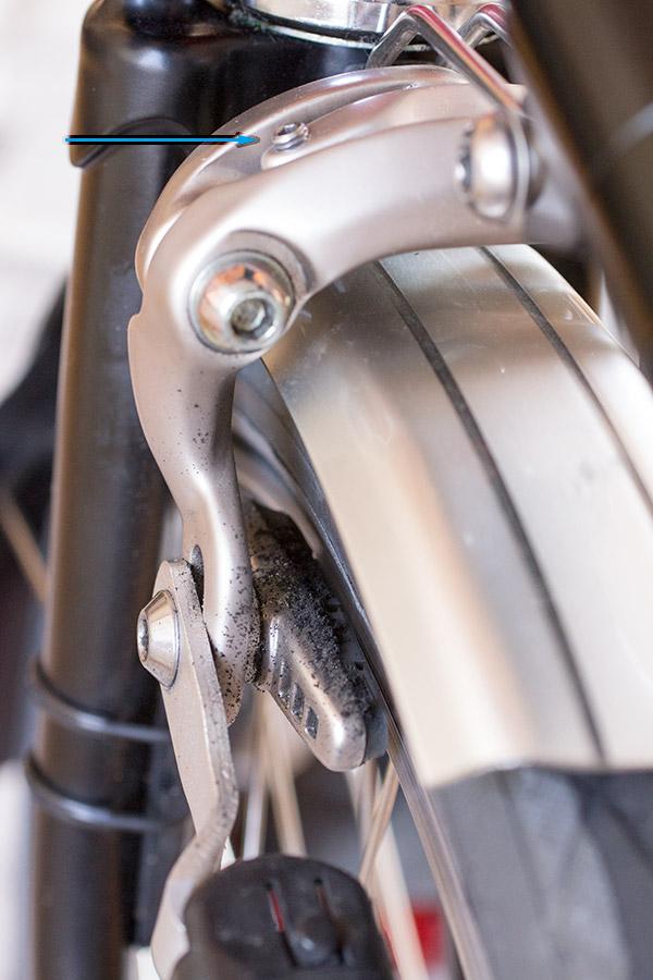Brompton front brake
