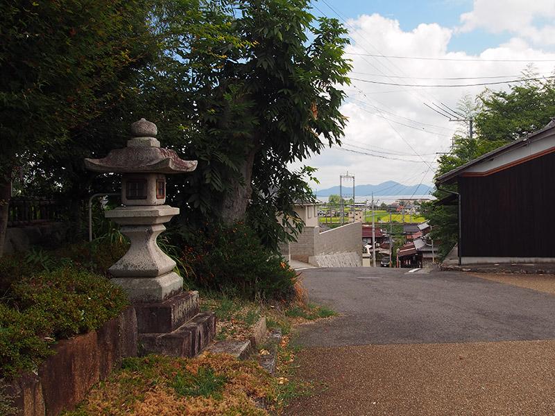 小野道風神社から琵琶湖