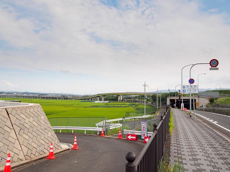 京奈和自動車道 木津IC付近