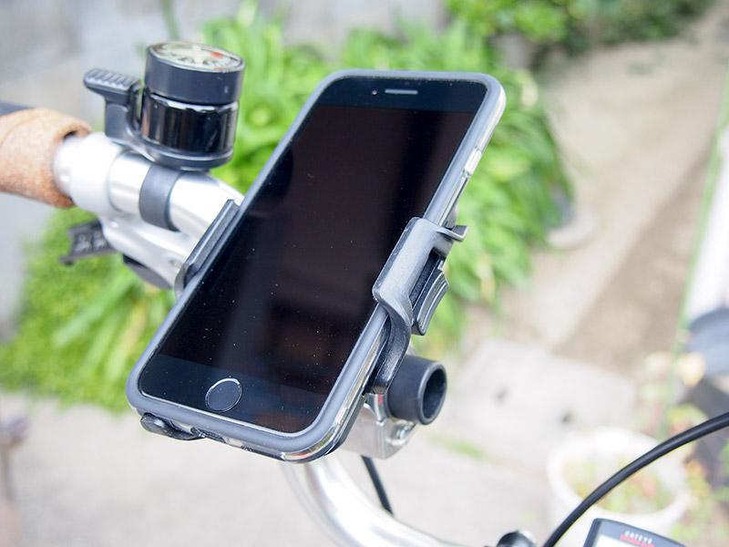 MINOURA iH-100-SとiPhone7カバー付