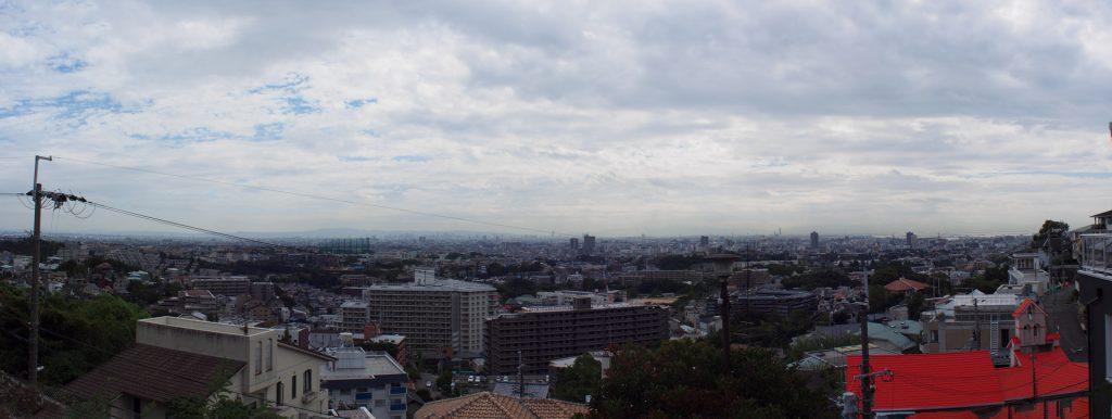 甲陽園付近からの眺望