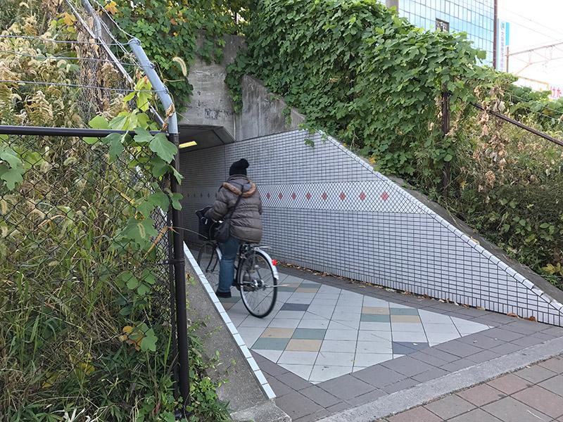 JR新大阪駅 在来線隧道
