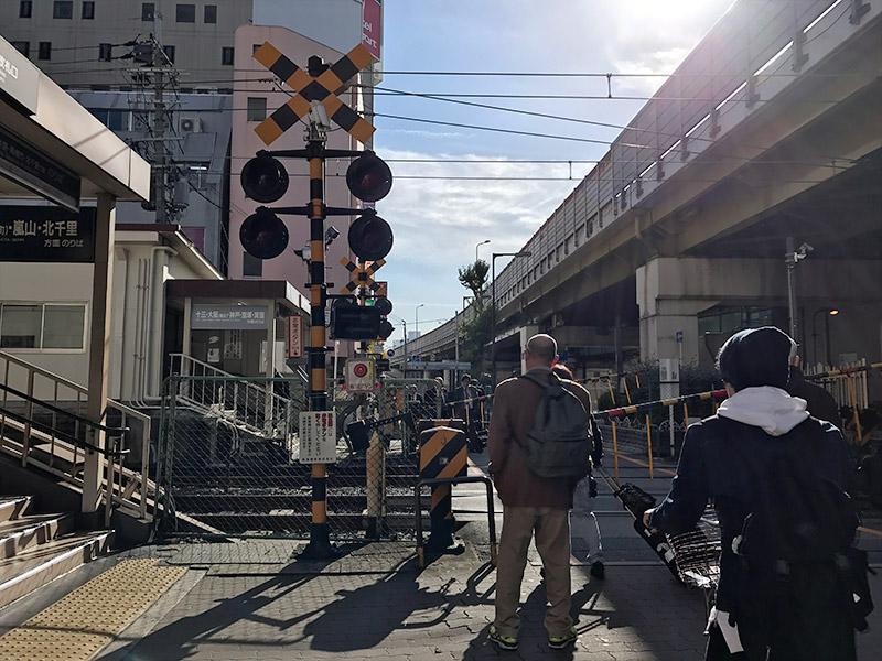 阪急京都線 南方駅 踏切