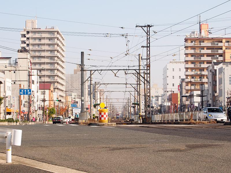 阪堺電軌阪堺線 御陵前駅付近