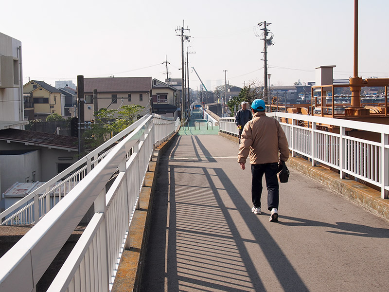 芦田川排水機場付近