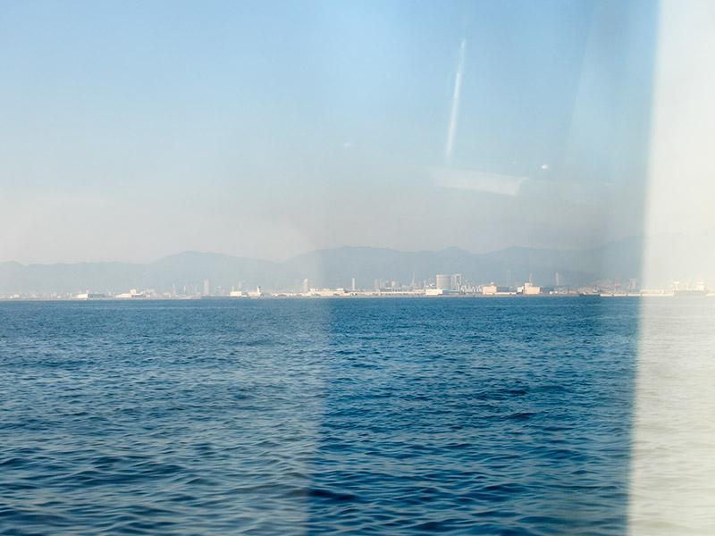大阪湾から神戸空港