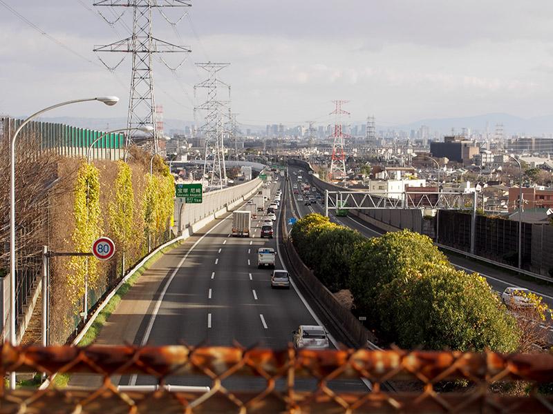 中国自動車道 宝塚IC付近