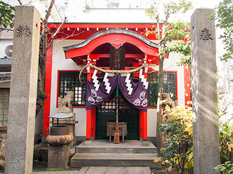 西出鎮守稲荷神社 拝殿