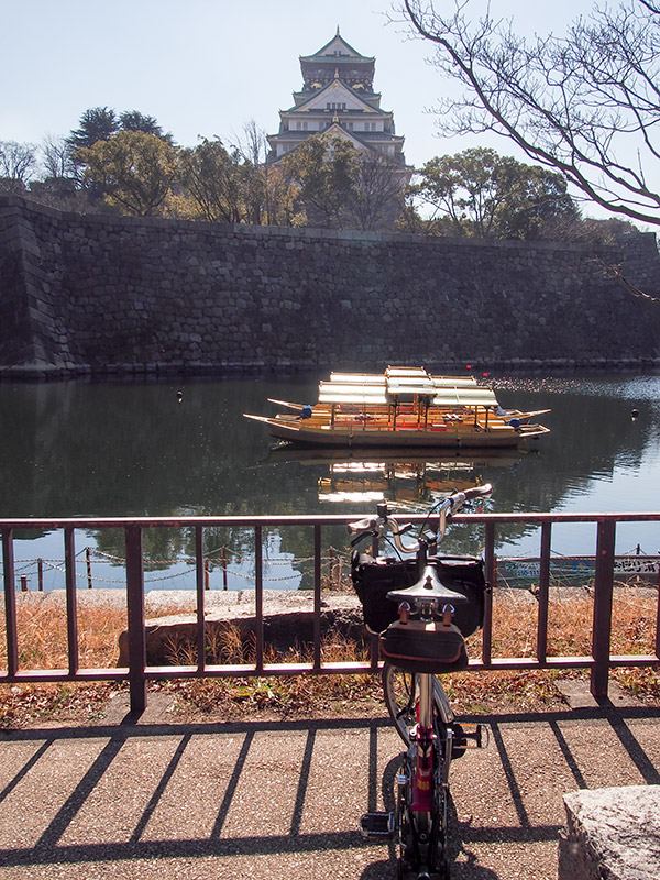 大阪城内濠 極楽橋付近