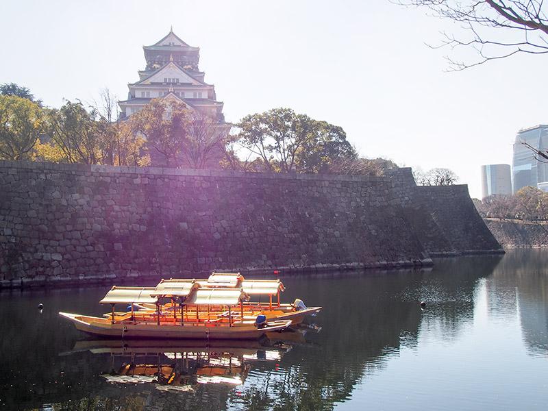 大阪城内濠 大阪城御座船