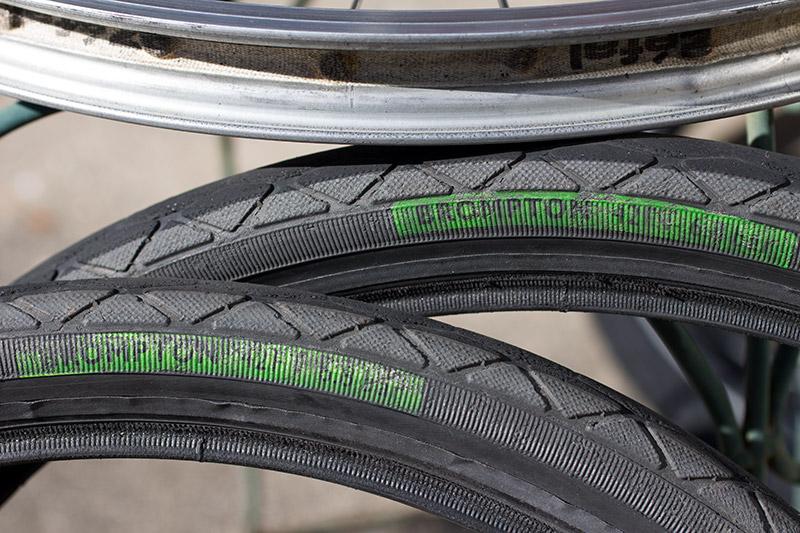 Brompton green label タイヤ