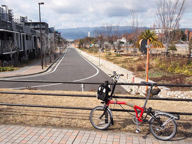 鳴尾川から六甲山地