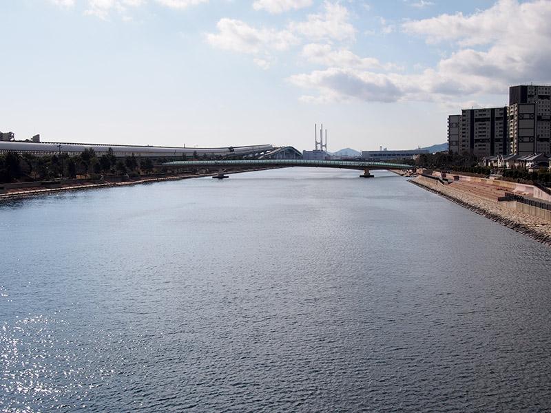 浜風大橋から芦屋浜