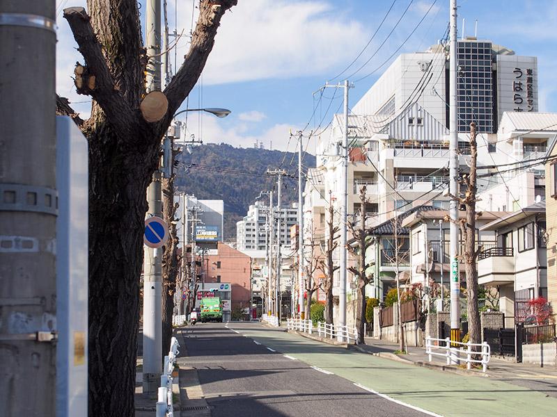 西国街道 JR住吉駅付近 2017