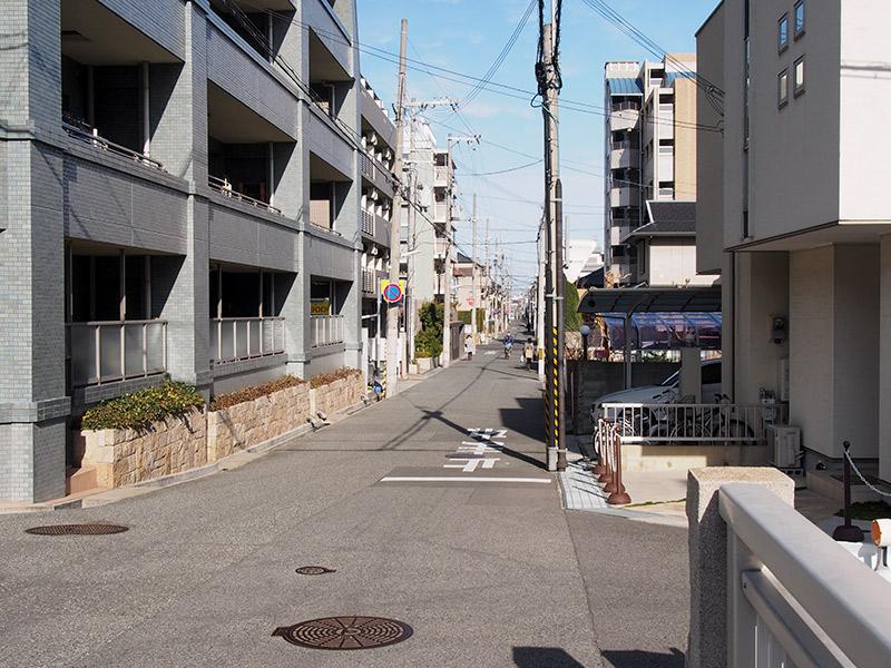 摂津本山付近 西国街道沿いの道