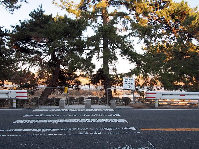 西国街道 武庫川堤防 西宮側 2017