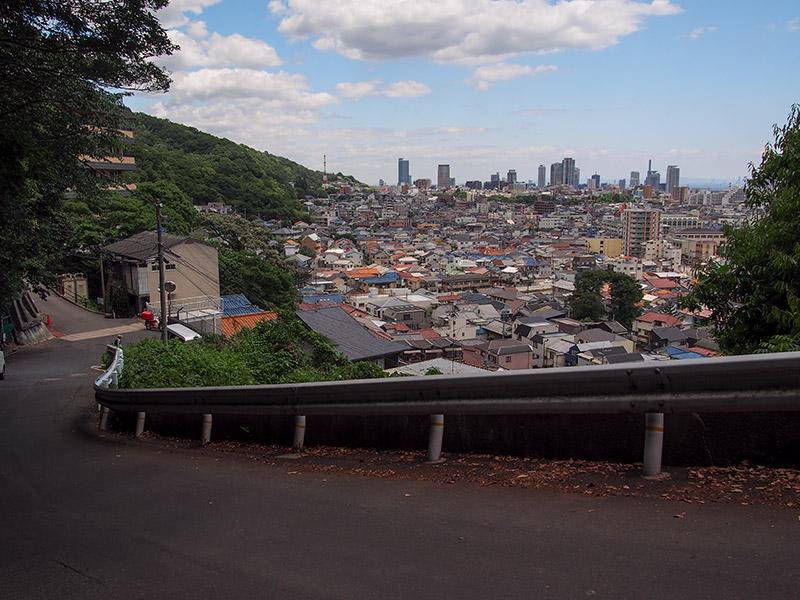 烏原貯水池付近から神戸市街の眺め