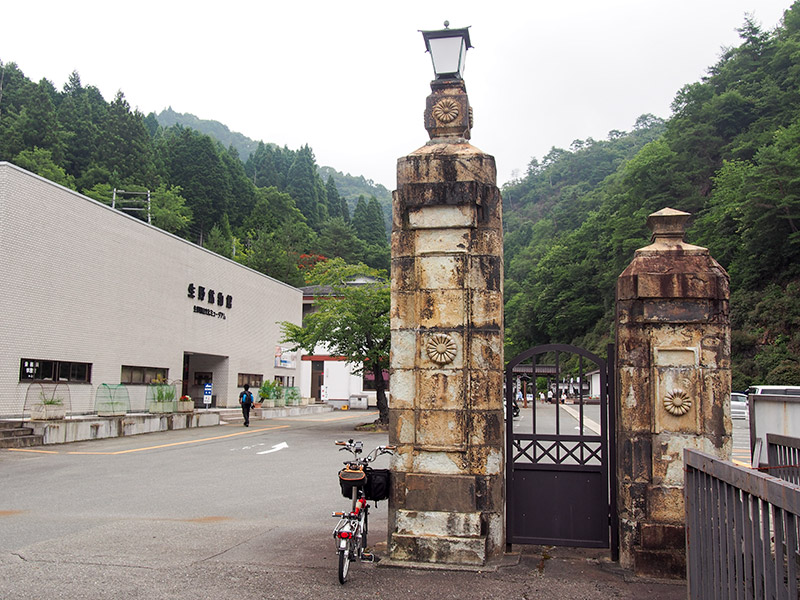 生野銀山 菊のご門柱