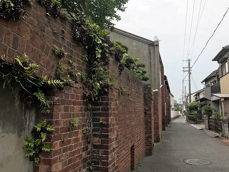 旧飾磨津揚場 煉瓦塀 2017