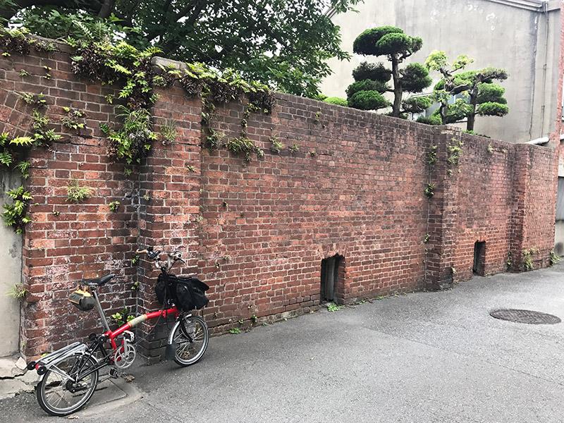 旧飾磨津揚場 煉瓦塀