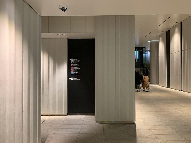 阪神百貨店駐輪場入口B2F