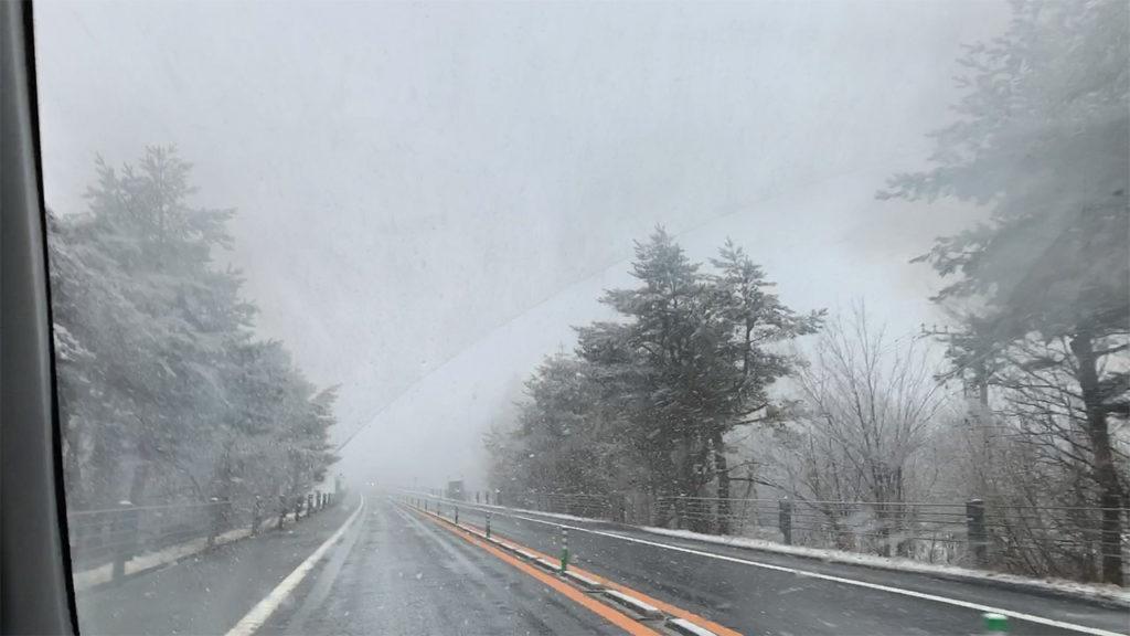 東富士五湖道路 雪 2020