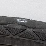 雨、パンク、タイヤ交換1