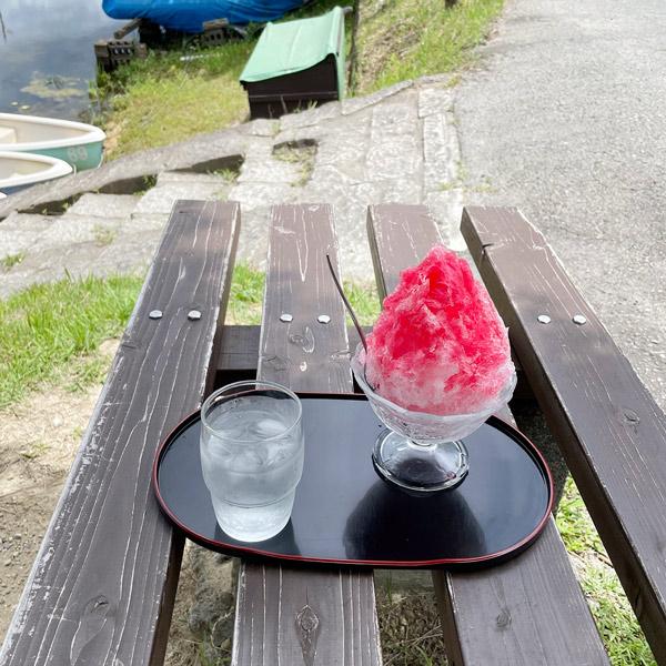 小野 男池 緑の家 かき氷